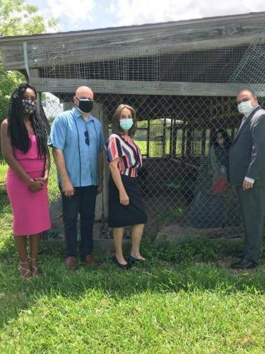 School Tour with Board Member Castillo & Mayor JC Bermudez
